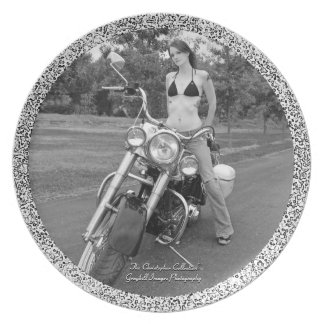 Motorcycle Chic Dinner Plate