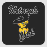 Motorcycle Chick #4 Square Sticker