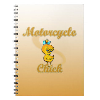 Motorcycle Chick Note Books