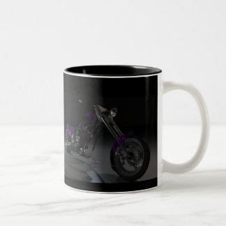 Motorcycle choper Two-Tone coffee mug