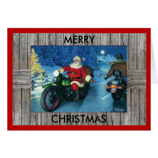 Motorcycle Christmas Card