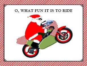 motorcycle christmas cards zazzle