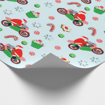 motorcycle Christmas Wrapping Paper