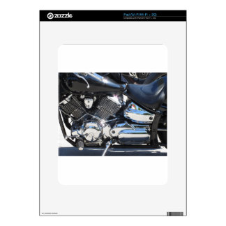 Motorcycle chromed engine closeup detail Side view Decal For iPad