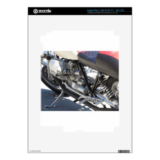 Motorcycle chromed engine closeup detail Side view Decal For iPad 3