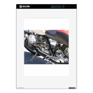 Motorcycle chromed engine closeup detail Side view Decals For iPad