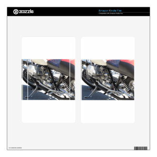 Motorcycle chromed engine closeup detail Side view Skin For Kindle Fire