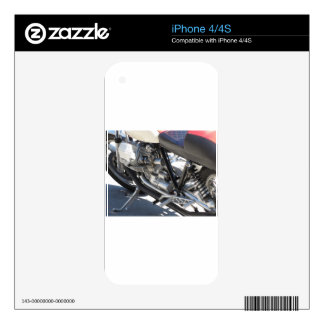 Motorcycle chromed engine closeup detail Side view Skins For The iPhone 4S
