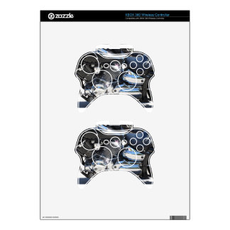 Motorcycle chromed engine closeup detail Side view Xbox 360 Controller Decal