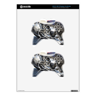 Motorcycle chromed engine closeup detail Side view Xbox 360 Controller Skin