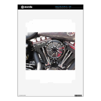 Motorcycle chromed engine detail background decal for iPad 2