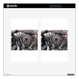 Motorcycle chromed engine detail background decal for kindle fire