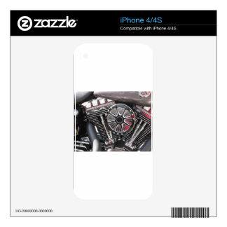 Motorcycle chromed engine detail background iPhone 4 decal