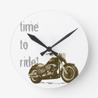 Motorcycle Clock - Time To Ride