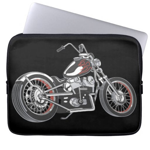 Motorcycle. Computer Sleeves