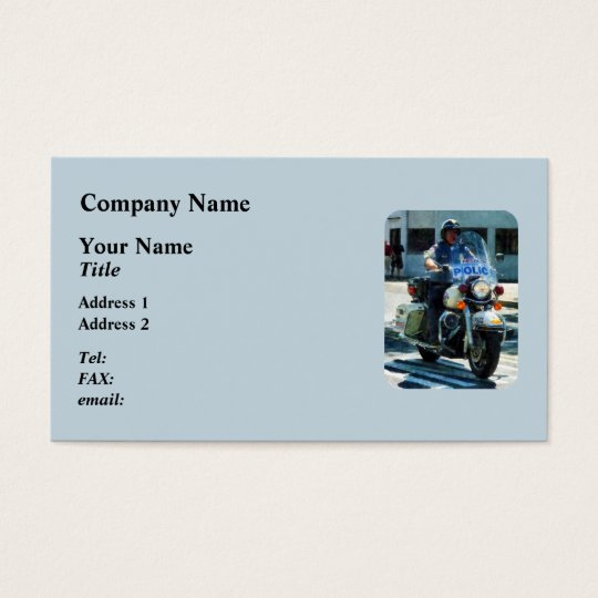 Motorcycle Cop Business Card
