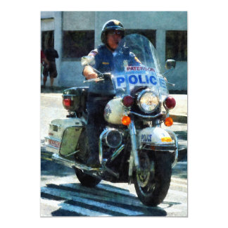 Motorcycle Cop Personalized Invite