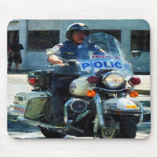 Motorcycle Cop Mouse Pads