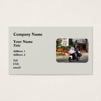Motorcycle Cop on Patrol Business Card