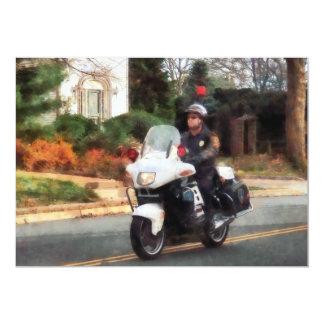 Motorcycle Cop on Patrol Card
