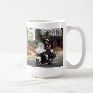 Motorcycle Cop on Patrol Coffee Mug