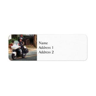 Motorcycle Cop on Patrol Label