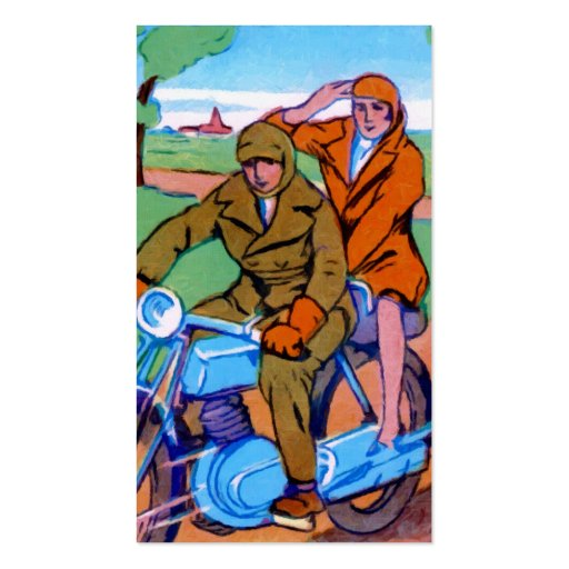Motorcycle Couple Business Card Template