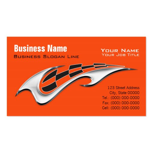 Motorcycle Davidson Business Card - Facebook