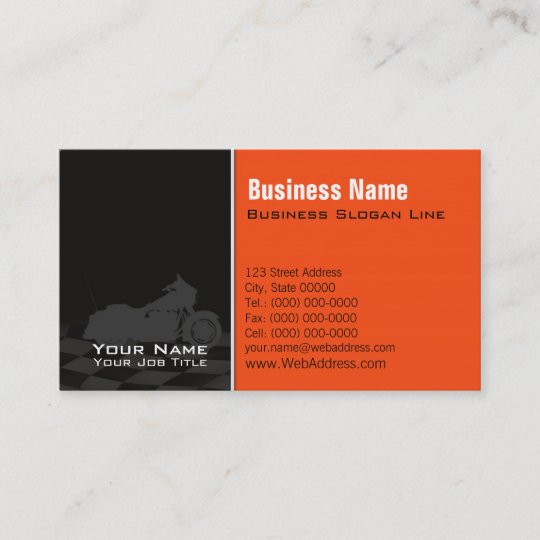 Motorcycle Davidson Business Card Twitter