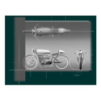 MOTORCYCLE DESIGN ART. POSTCARDS