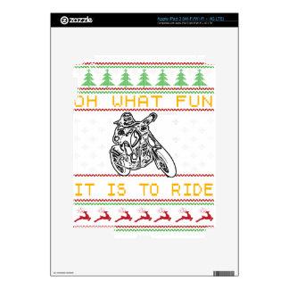 motorcycle design cut skin for iPad 3