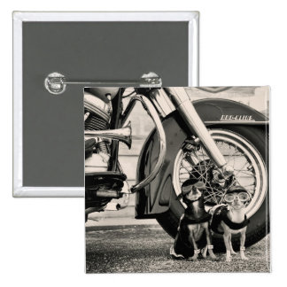 Motorcycle Dogs Pinback Button