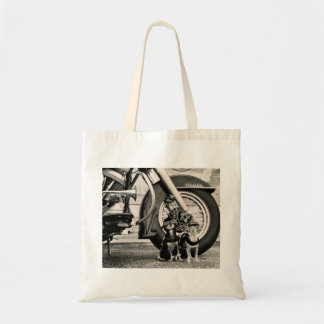 Motorcycle Dogs Tote Bag