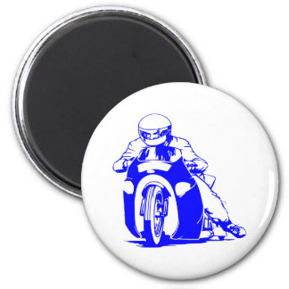 Motorcycle Drag Racing 2 Inch Round Magnet