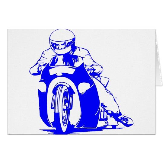 Motorcycle Drag Racing Card