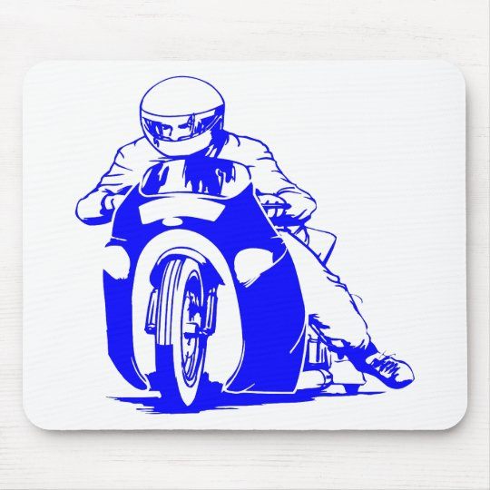 Motorcycle Drag Racing Mouse Pad