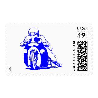 Motorcycle Drag Racing Postage Stamp
