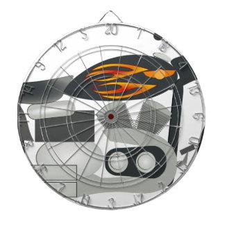 Motorcycle Drawing Dart Board