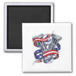 Motorcycle Engine 2 Inch Square Magnet