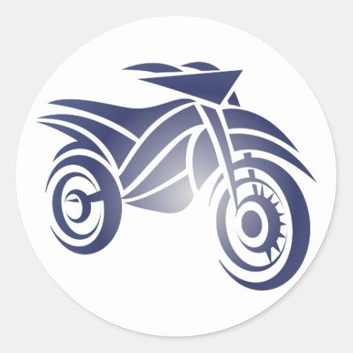 Motorcycle engine bike classic round sticker