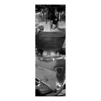 Motorcycle Engine Bookmark Mini Business Card