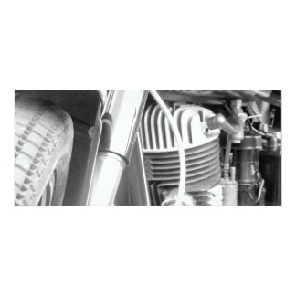 Motorcycle Engine Closeup Card