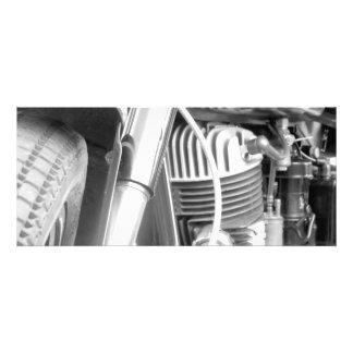 Motorcycle Engine Closeup Personalized Invitation
