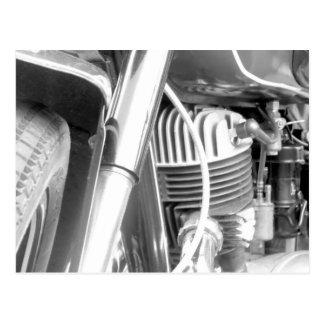 Motorcycle Engine Closeup Postcard