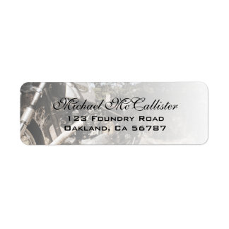 Motorcycle Engine Custom Address Labels