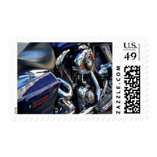 Motorcycle Engine Postage Stamps