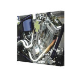 Motorcycle Engine Stretched Canvas Prints