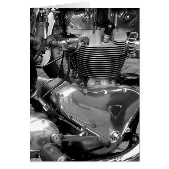 Motorcycle Engine - Vertical Card