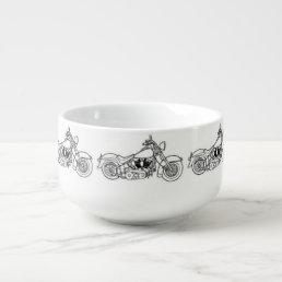 **MOTORCYCLE ENTHUSIAST'S** SOUP BOWL OR MUG