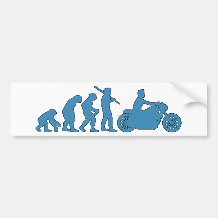 Motorcycle Evolution Bumper Sticker